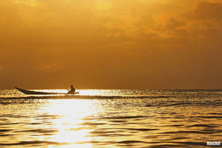 Sunset on lagoon